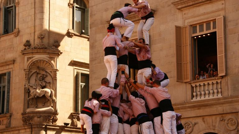 Human Tower at La Merce Festival